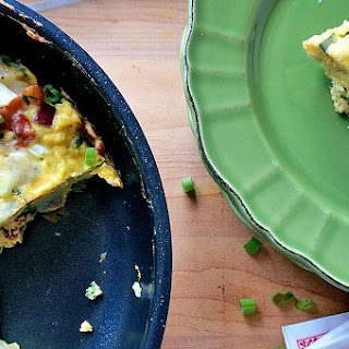 Bacon, Cheddar and Kale Frittata
