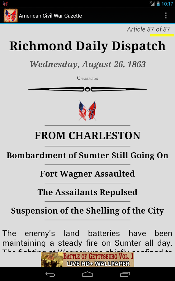 1863 Aug Am Civil War Gazette - screenshot