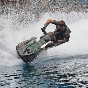 Jetski in action by Barry Allan - Sports & Fitness Watersports