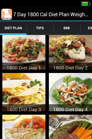 1800 Cal Diet Plan Weight Loss