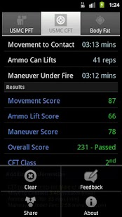 USMC PFT & CFT Calculator- screenshot thumbnail