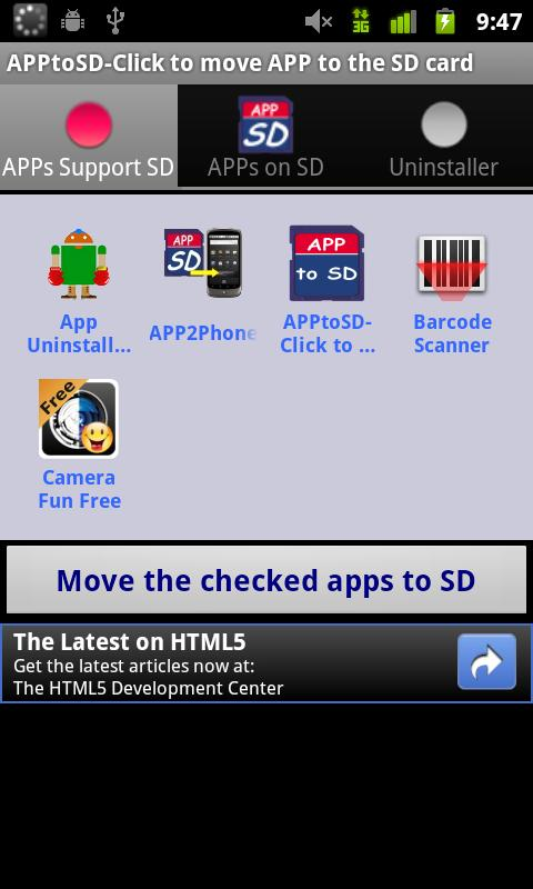 APP to SD / APP2SD - screenshot
