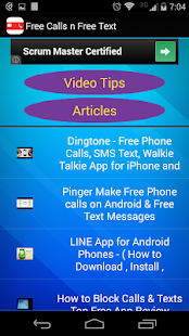 Free Calls & Texts Guide- screenshot thumbnail