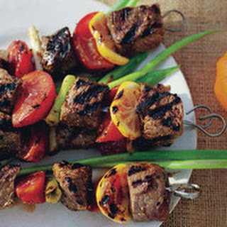 Grilled Beef, Tomato and Lemon Kebabs Recipe