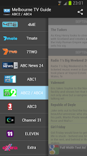 Melbourne TV Guide - screenshot thumbnail