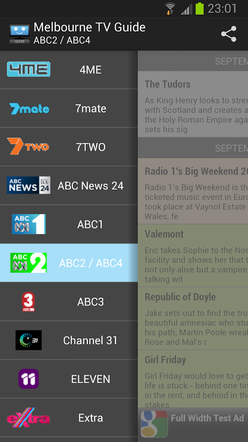 Melbourne TV Guide- screenshot