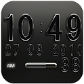 Digi Clock Widget Black Star