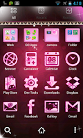 Screenshot of GO Theme Love Heart n Pink 400