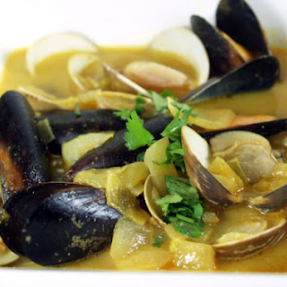 Indian-Spiced Mussels Or Clams