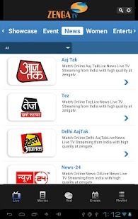 ZengaTv - Mobile TV,Live TV - screenshot thumbnail