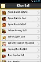 Screenshot of Resep Bali