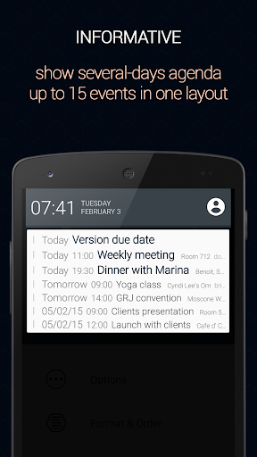 Calendar Status Pro Apps for Android screenshot