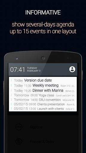 Calendar Status Pro app for Android screenshot