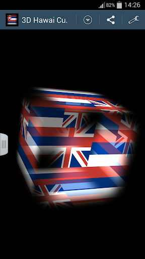 3D Hawaii Cube Flag LWP