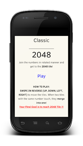 Classic 2048 Number Game