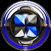 Next Launcher Theme Blue Delux
