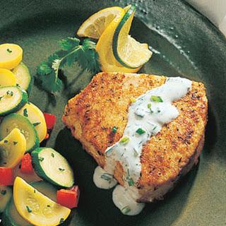 Swordfish with Cilantro-Lime Cream.