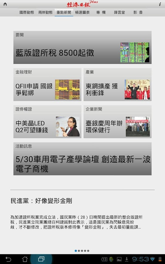 ECONOMIC DAILY NEWS Plus - screenshot