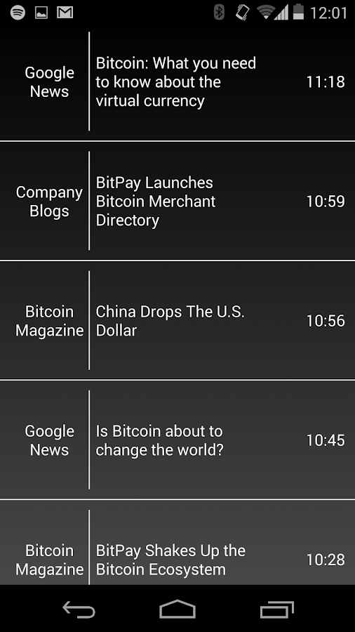 Bitcoin News, Ticker, & Charts - screenshot
