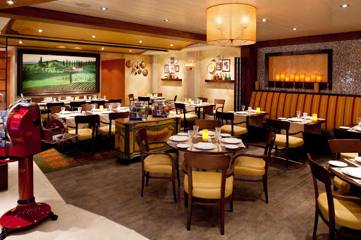 Allure-of-the-Seas-Giovannis - At Giovanni's on your Allure of the Seas sailing, the Italian trattoria offers rustic dishes with a contemporary flair, providing guests with an authentic northern Italy/Tuscan experience.