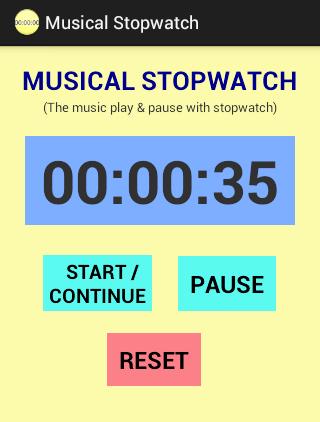 Musical Stopwatch