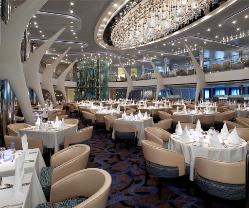Celebrity_Eclipse_MoonlightSonata - You'll be impressed by Celebrity Eclipse's opulant Moonlight Sonata dining room.