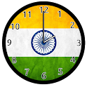 Indian Flag Analog Clock icon