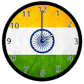Indian Flag Analog Clock