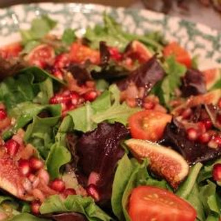 Spring Mix Salad with Pomegranate Citrus Vinaigrette.
