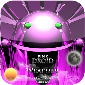 美麗的天氣部件粉紅 天氣 App LOGO-APP試玩