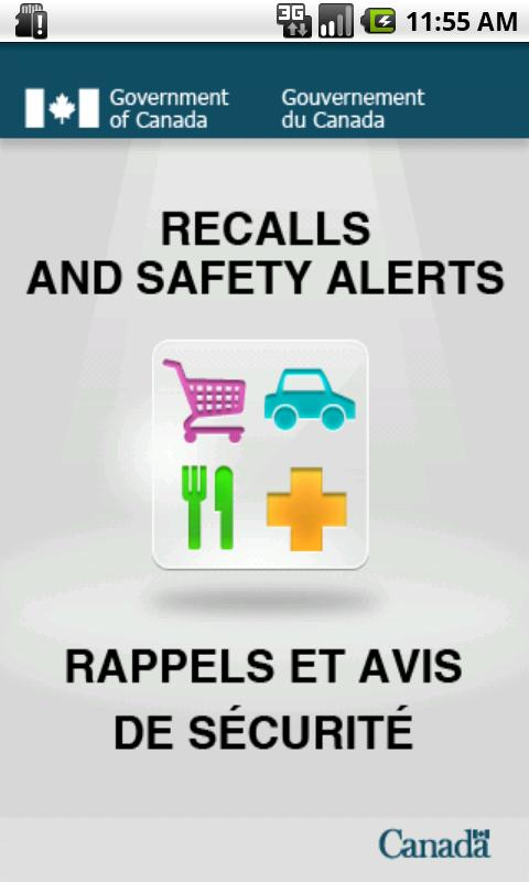 Recalls and Safety Alerts - screenshot