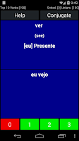Screenshot of Portuguese Verb Trainer
