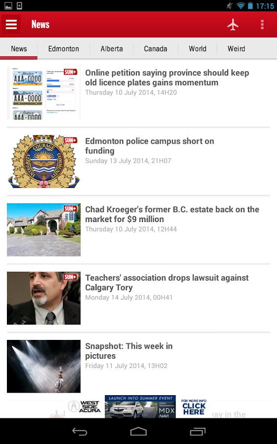 Edmonton SUN+- screenshot