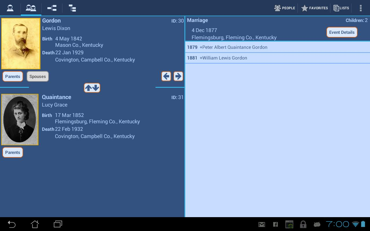 GedStar Pro Genealogy Viewer - screenshot