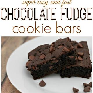 Chocolate Fudge Cookie Bars.