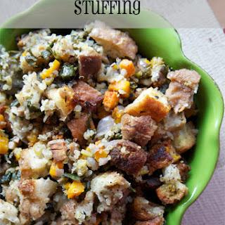 Butternut Squash, Quinoa, Kale Stuffing