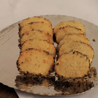 Savory Shortbread with 2 cheeses and pumpkin seeds..