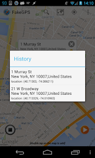 Fake GPS Location Spoofer Screenshot