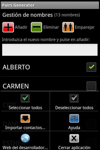 Generador de Parejas FREE- screenshot