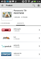 Mobiler Preisvergleich - screenshot thumbnail