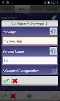 Screenshot of Tasker App Factory
