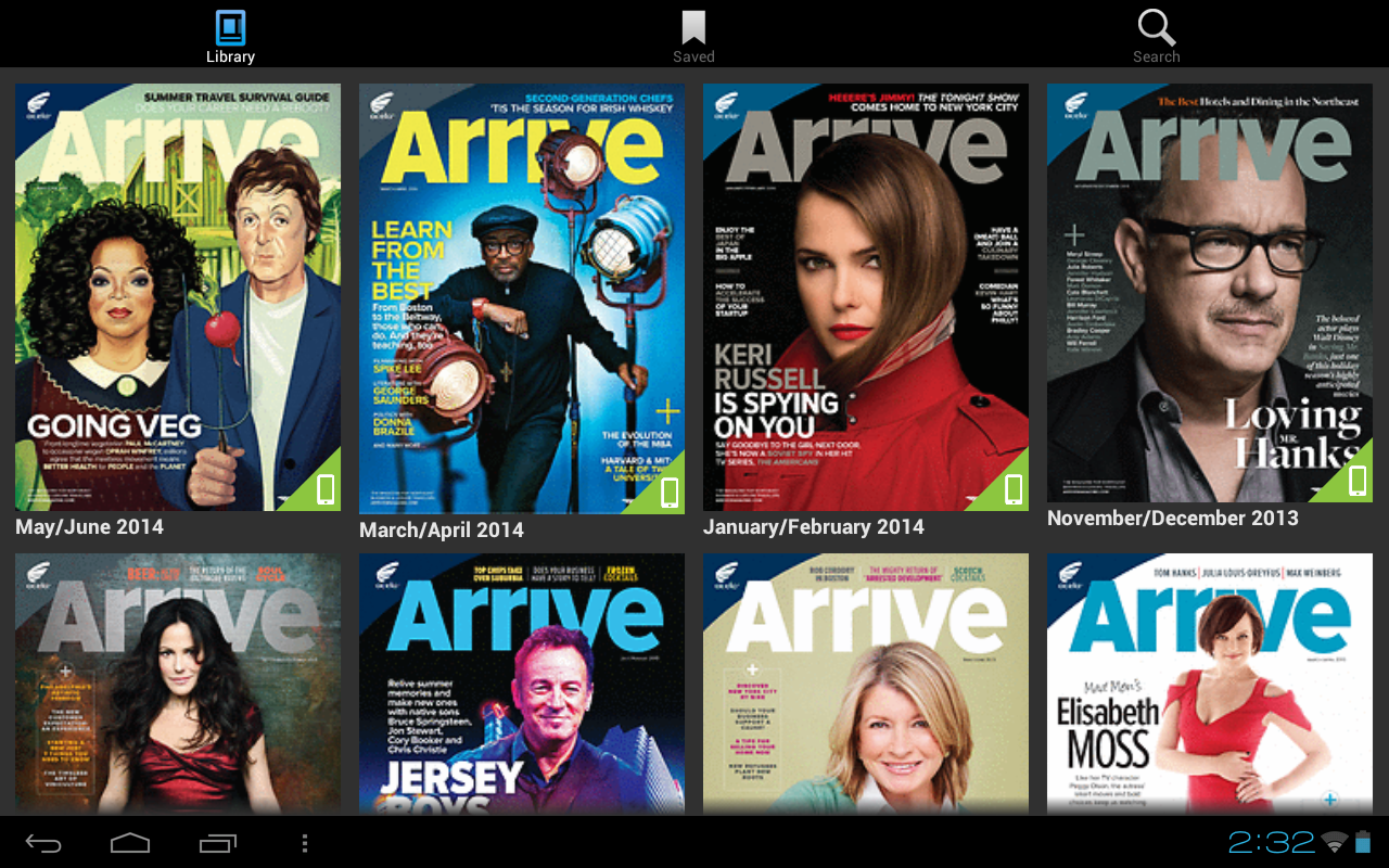 Arrive Magazine - screenshot