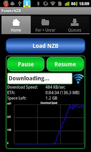 Power NZB - Par2 library - screenshot thumbnail