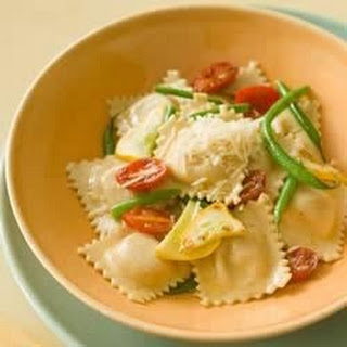 Whole Wheat Ravioli with Sauteed Garlic Vegetables