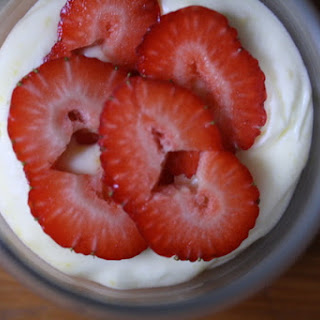 Lemon Mousse  with Basil-Macerated Strawberries Recipe