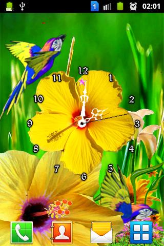 Hibiscus Flower Clock