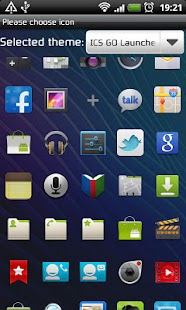 ICS GO Launcher EX Theme- screenshot thumbnail