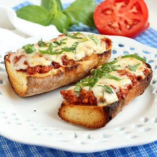 Easy Bolognese French Bread Pizza.