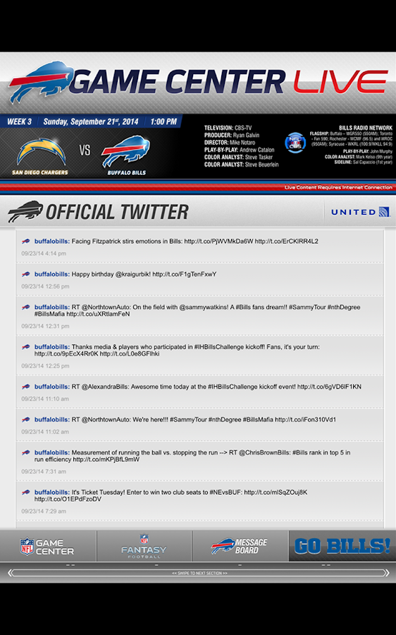 Buffalo Bills Touch- screenshot