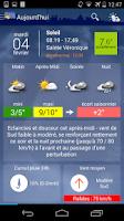Screenshot of Météo Paris